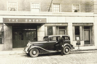 O'Connor Taxi in front of Emery Hotel in 1934
